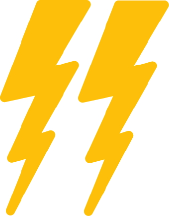Pictures of lightning bolts clip art.
