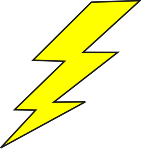 Bolt of lightning clipart.