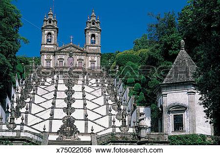 Stock Images of Bom Jesus, Braga Basilica, Portugal x75022056.