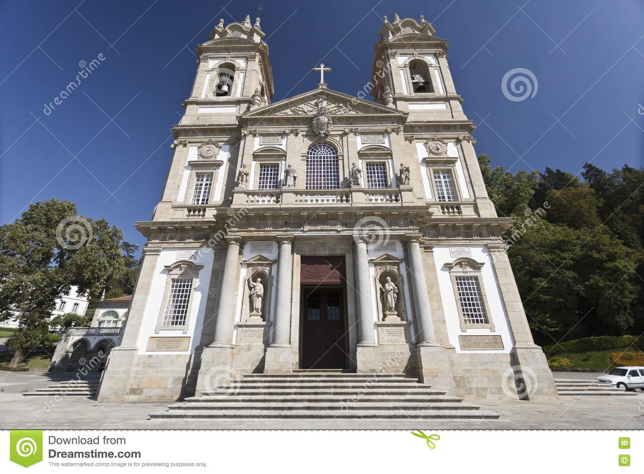 Braga Basilica Of Bom Jesus Stock Photo.