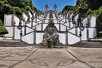 Fountains Of Sanctuary Bom Jesus Do Monte, Braga Stock Photography.