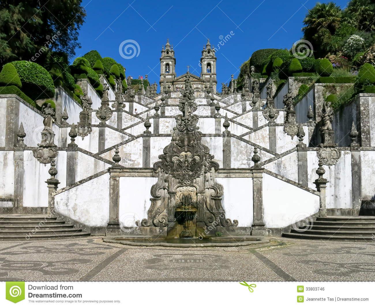 Stairway Of Bom Jesus Do Monte, Braga, Portugal Stock Images.