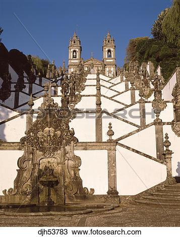 Stock Photo of Portugal Braga Church of Bom Jesus djh53783.