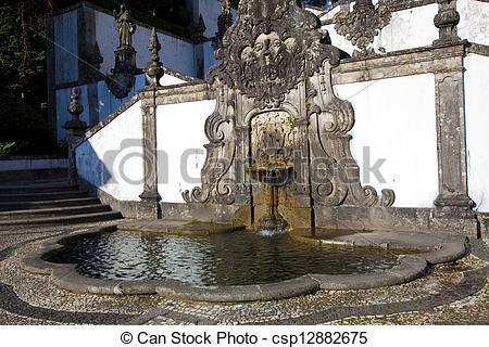 Picture of Fountain in Bom Jesus Do Monte, Braga, Portugal.