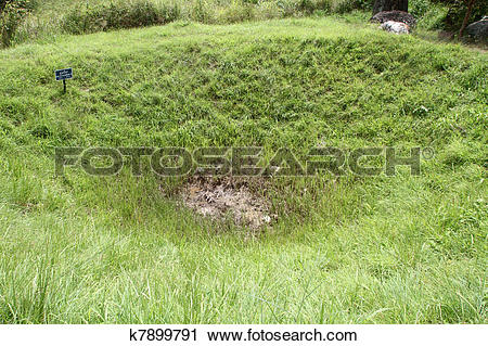 Stock Photography of Bomb crater k7899791.