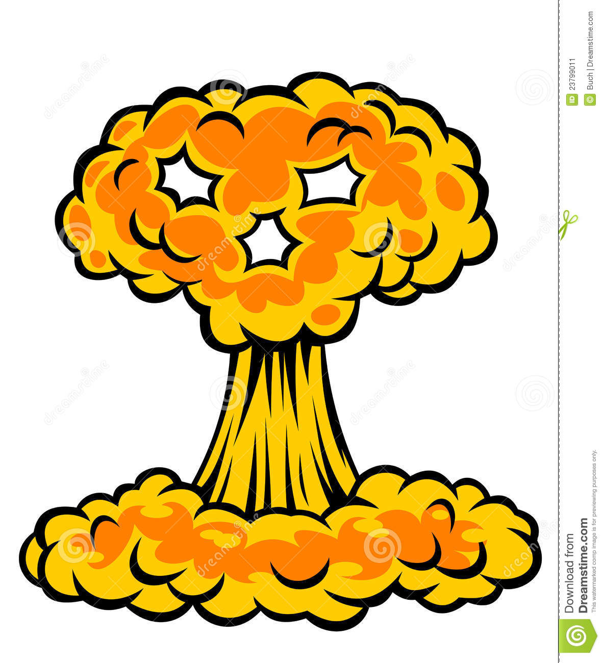 Nuclear Bomb Explosion Clipart.