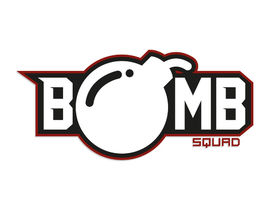 Logo for a sports team. Called BOMB SQUAD..