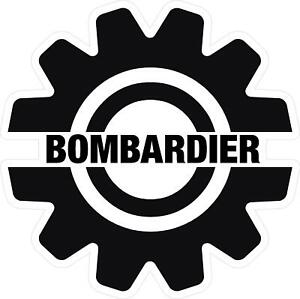 Details about #G213 Bombardier Logo Trailer Garage Decal Sticker Fully  Laminated Vinyl.
