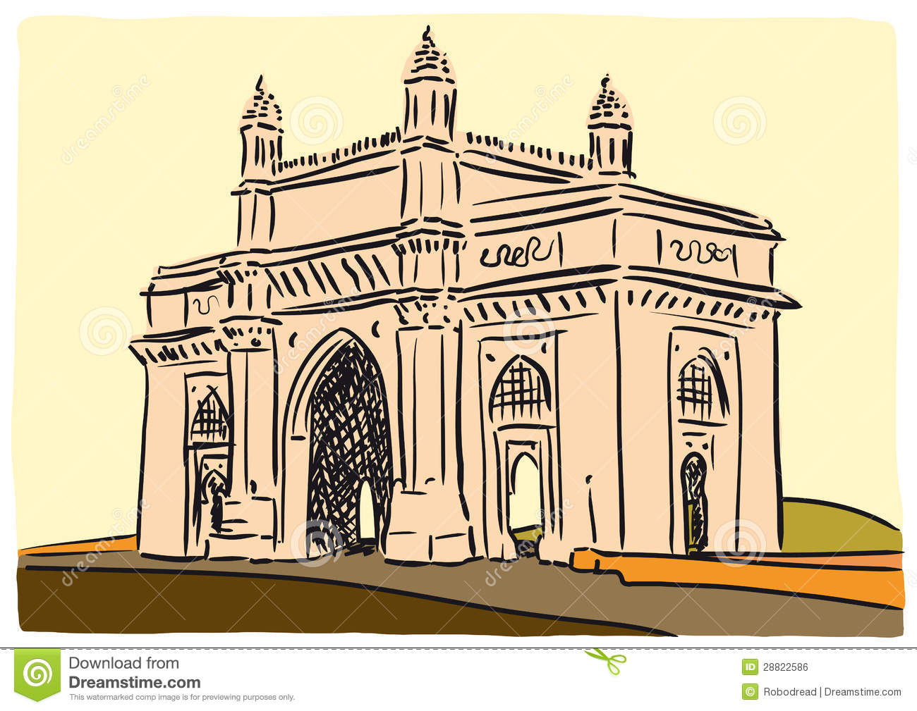Gateway of india clipart #2
