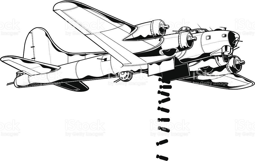 Clipart art bomber plane.