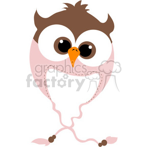 Owl Bomber Beanie Hat clipart. Royalty.