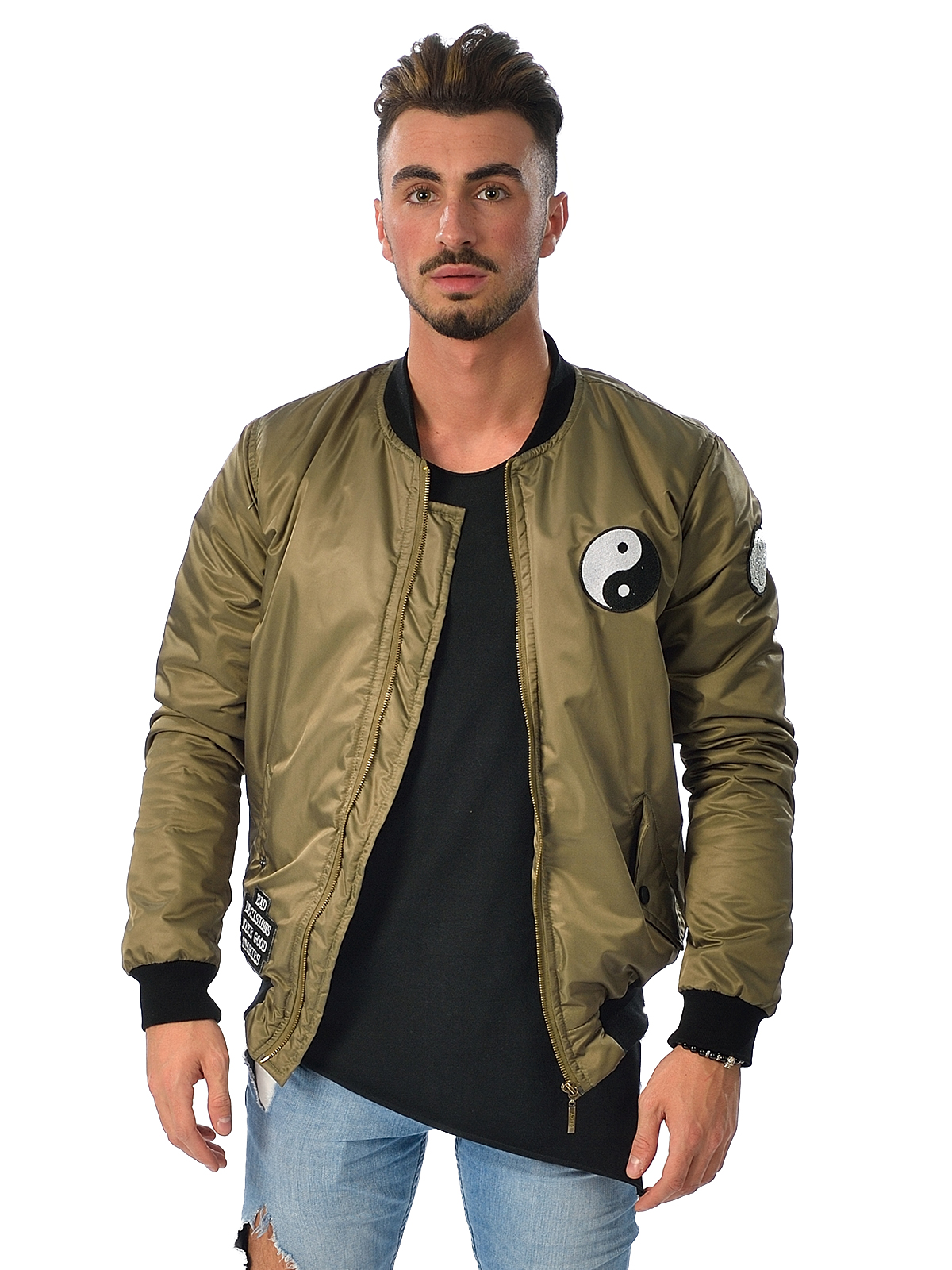 Yin Yang Bomber Jacket Men.