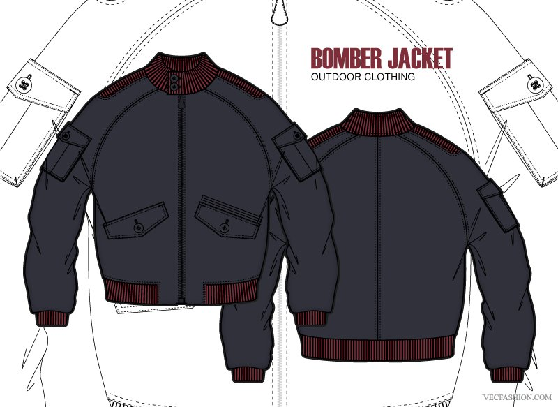 Bomber jacket Photos, Graphics, Fonts, Themes, Templates ~ Creative.