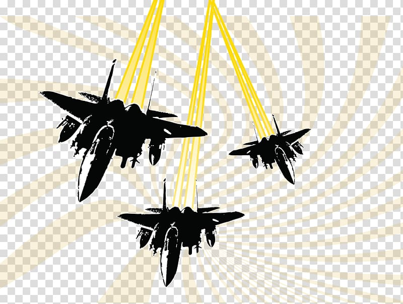 Airplane Fighter aircraft Helicopter, Bomber transparent background.
