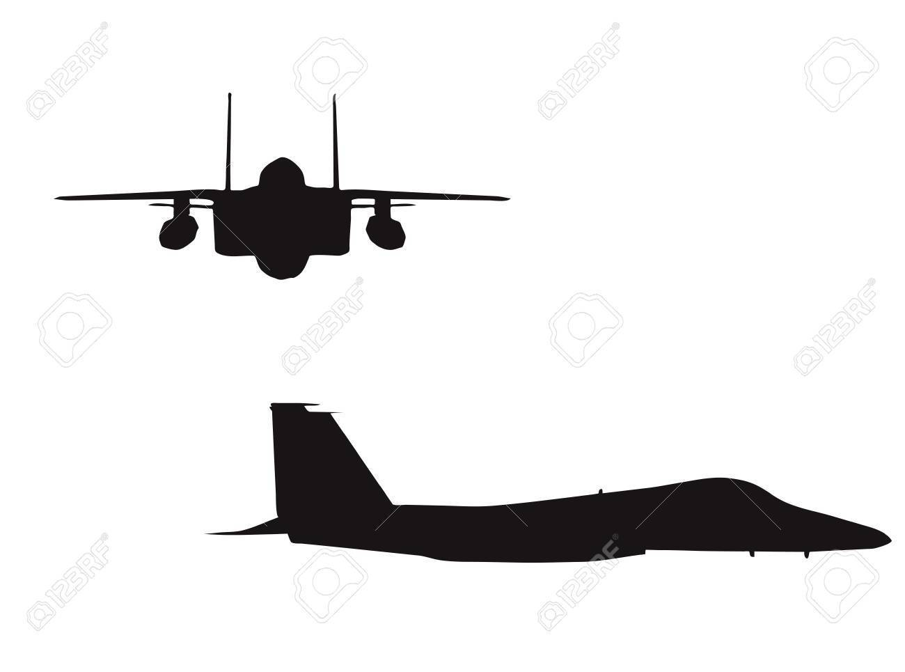 Bomber plane silhouette on white background » Clipart Portal.