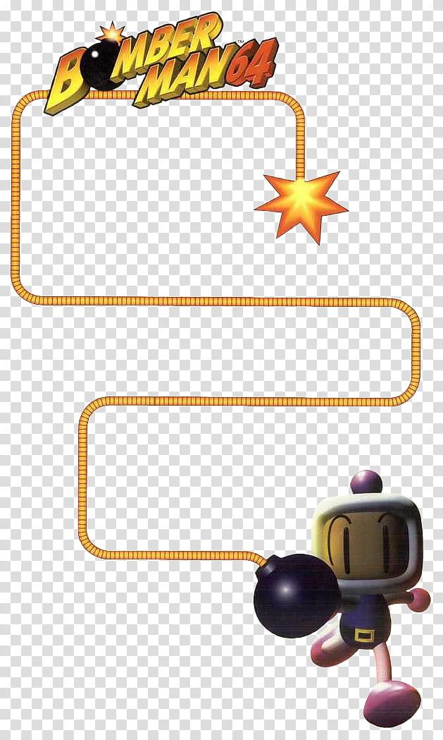 Bomberman Bomb Fuse Vertical transparent background PNG.