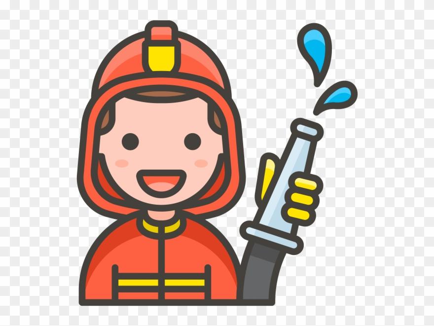 Man Firefighter Emoji.