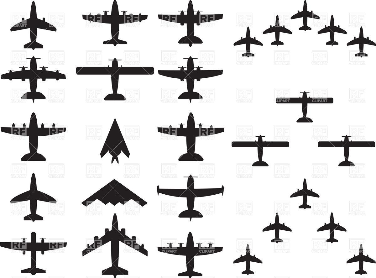 Military bomber plane free clipart.