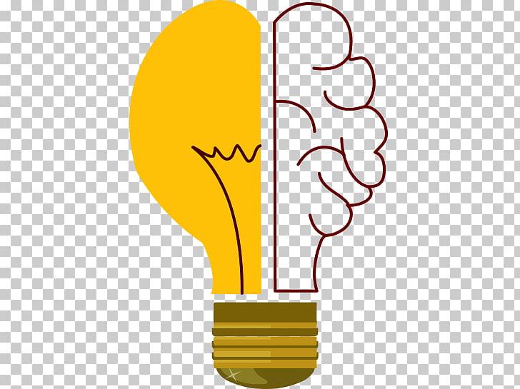 Creatividad incandescente bombilla, bombilla creativa. PNG.