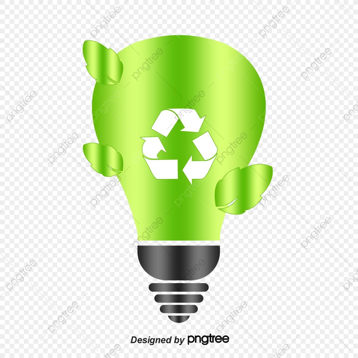 Bombillas De Ahorro De Energía Verde, Verde, Bombilla De Luz.