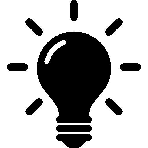 idea y símbolo de creatividad de una bombilla.