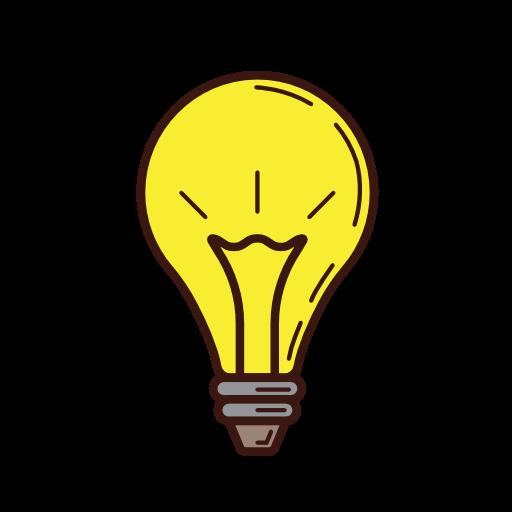Icono La luz de la bombilla, idea, iluminado, luz Gratis de.