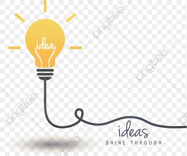 Vector Bombilla Idea, Pensamiento, Idea, Bombilla De Luz PNG y.