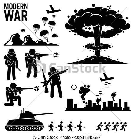 Vector Clip Art of Bombing of the city.