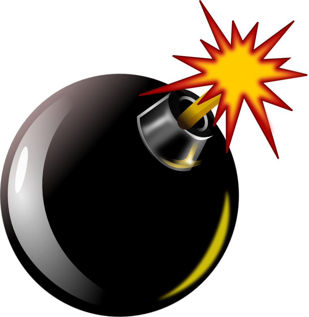 bombing clipart #nicubunu_Bomb.