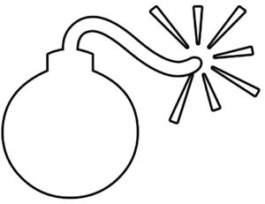 Bomb Outline Clip Art at Clker.com.