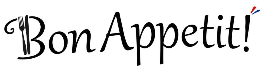Bon Appetit! Vektor Logo.