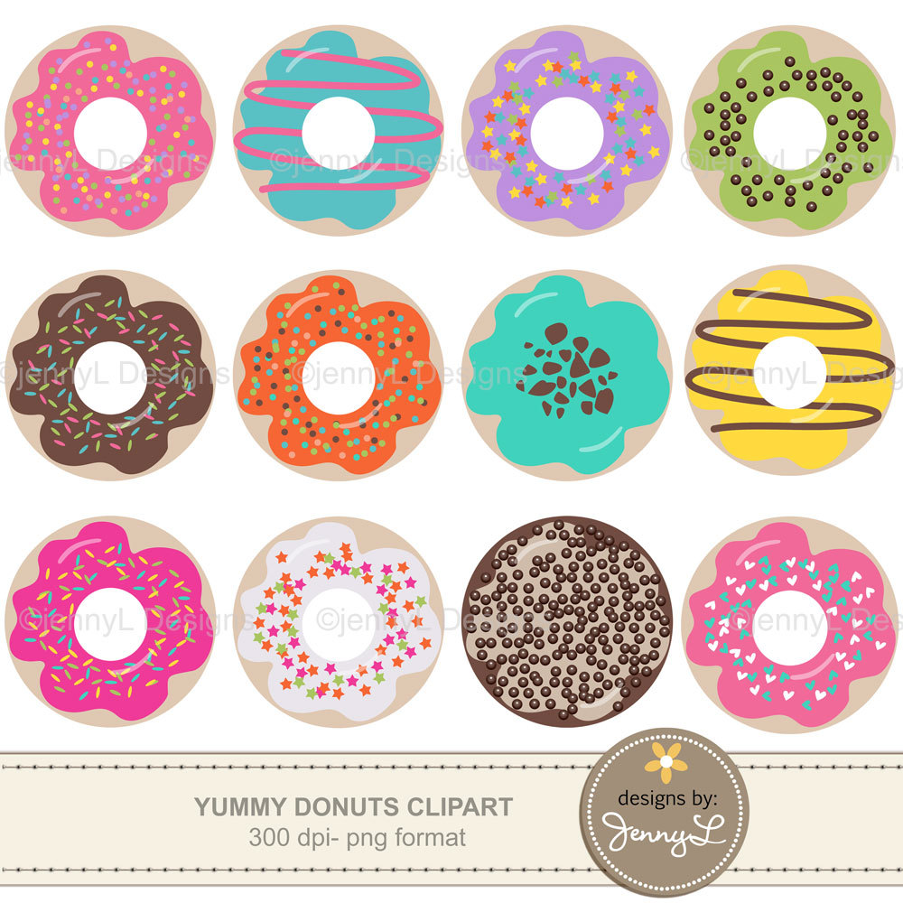 Donut clipart.