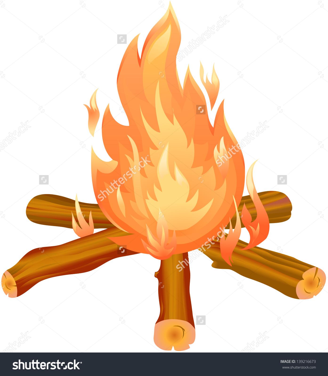 Bonfire Clipart Stock Vector 139216673.