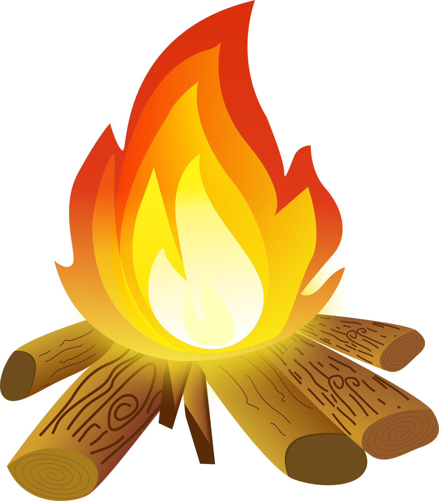 Blue bonfire clipart no background.
