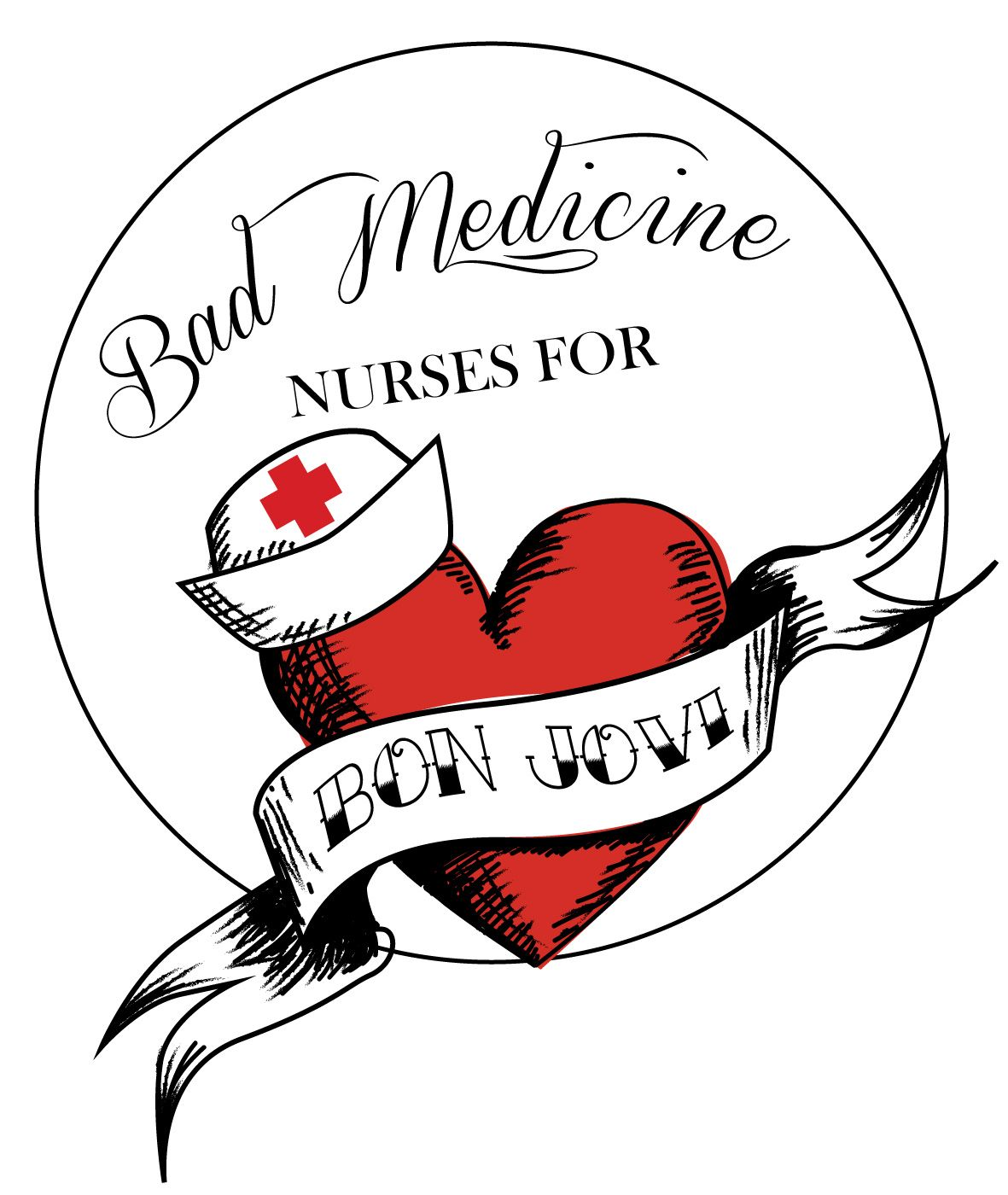 Mermaid's Log: Nurses for Bon Jovi tshirt design,