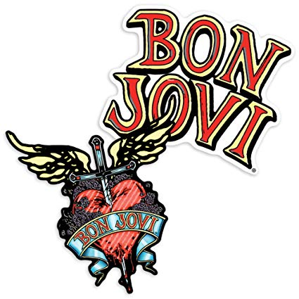 Amazon.com: Popfunk Bon Jovi Dagger and Heart Collectible Stickers.