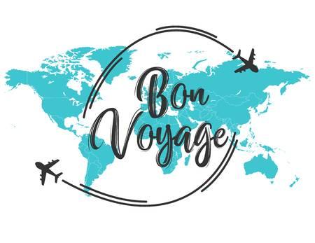 1,077 Bon Voyage Stock Vector Illustration And Royalty Free Bon.