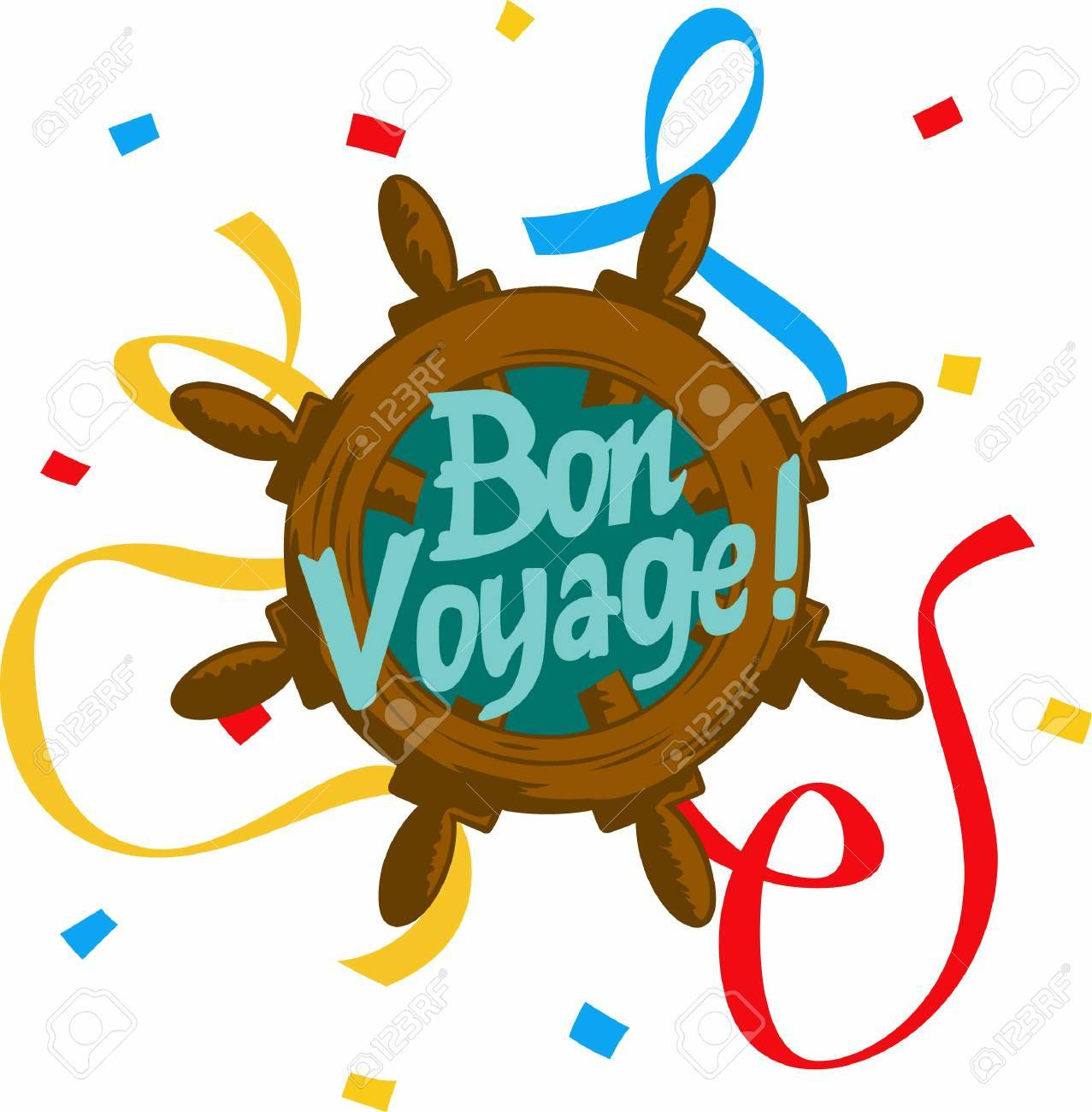ave happy travels with a bon voyage saying..