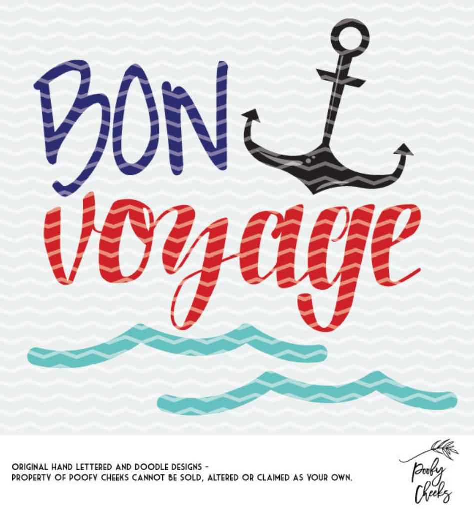 Bon Voyage Cut File.