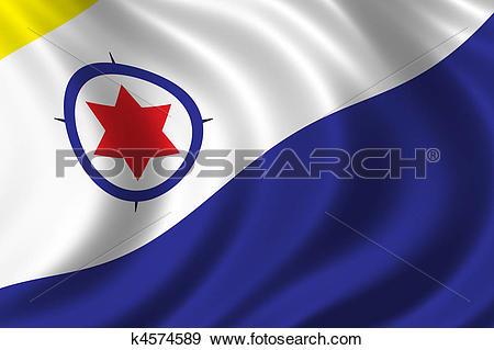 Stock Photograph of Flag of Bonaire k4574589.