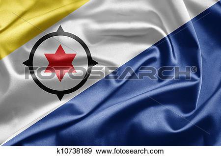 Stock Illustration of Flag of Bonaire k10738189.