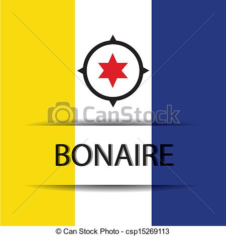 Vector Clip Art of Bonaire text on special background allusive to.