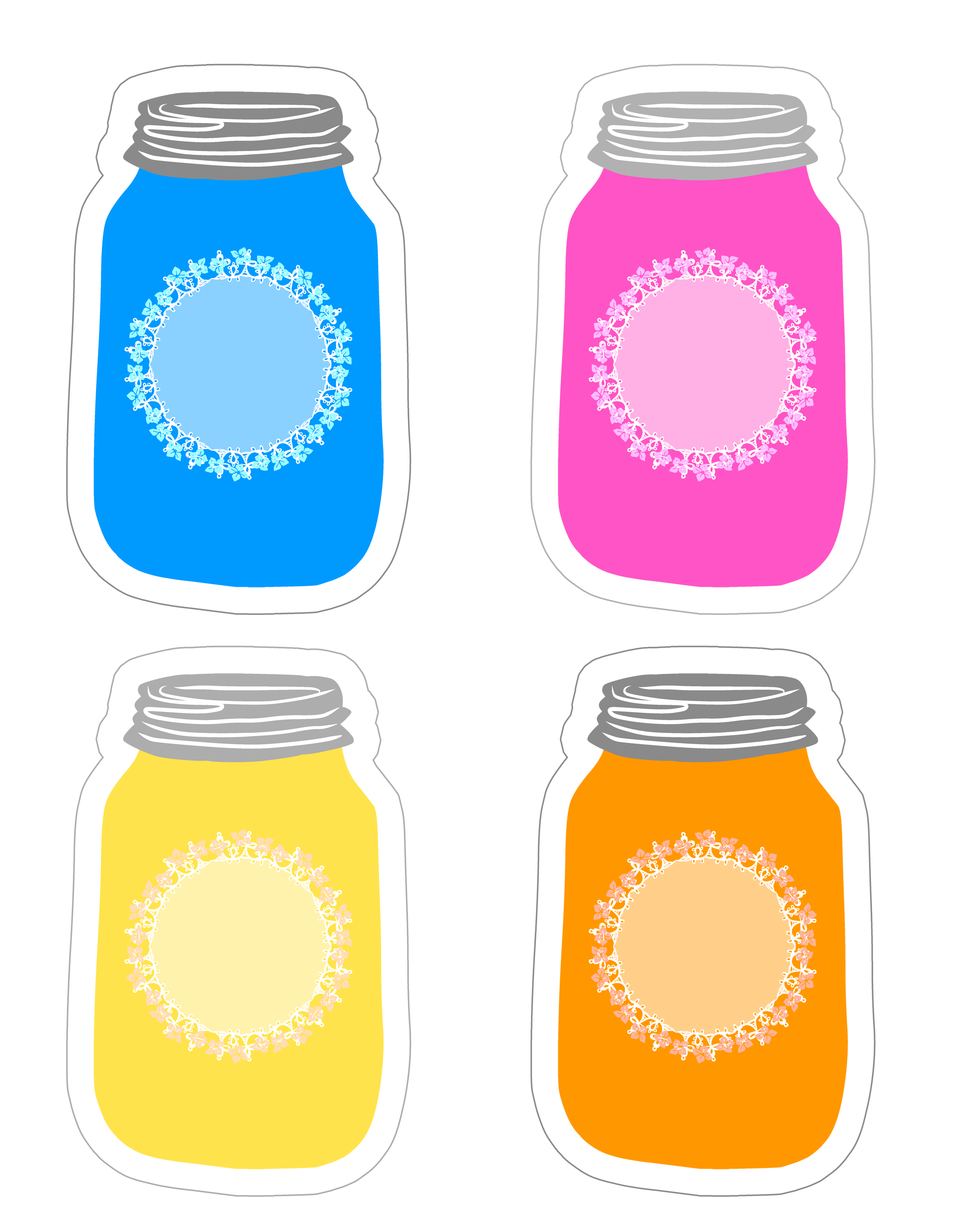 Jar Label Clipart.