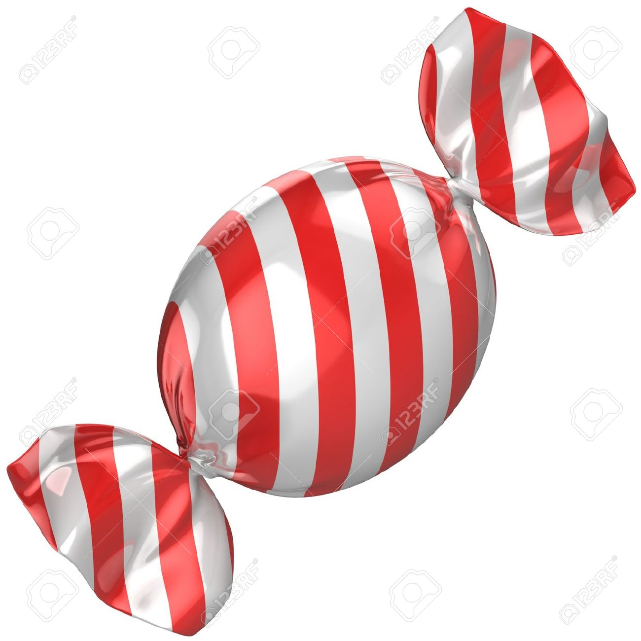 Candy Isolated On The White Stock Photo, Picture And Royalty Free.