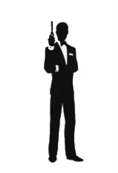 James bond clipart with girl.