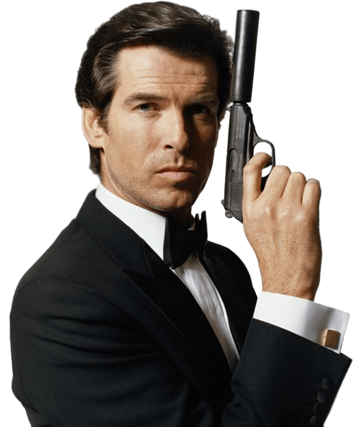Pierce Brosnan James Bond 007 transparent PNG.