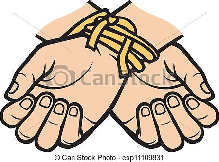 Vectors of hands tied csp11109831.