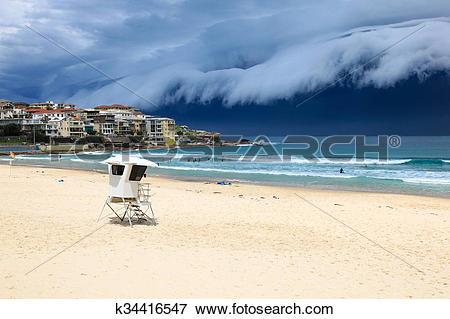 Picture of Bondi Beach Storm.