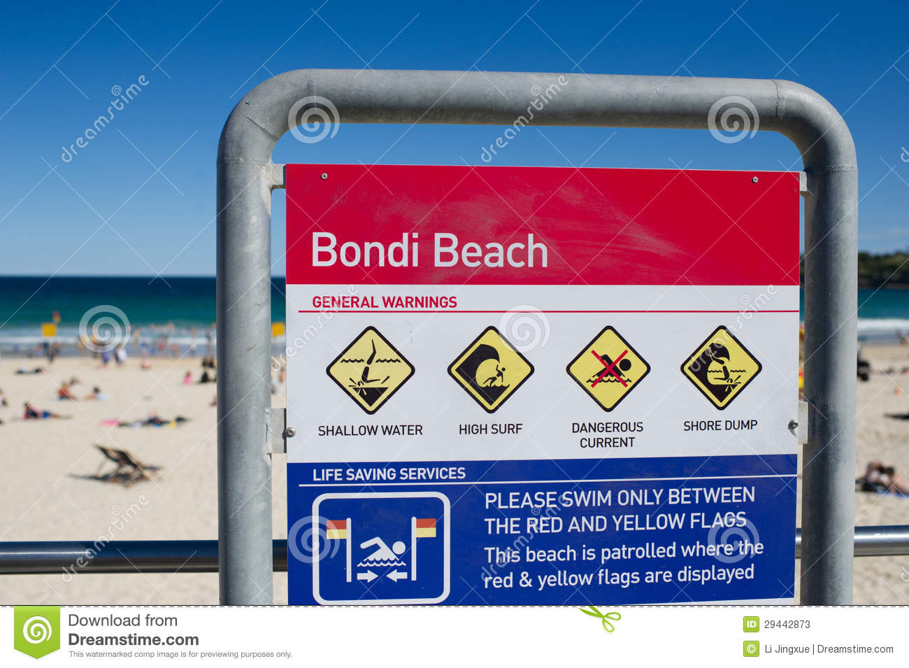 Bondi beach clipart.