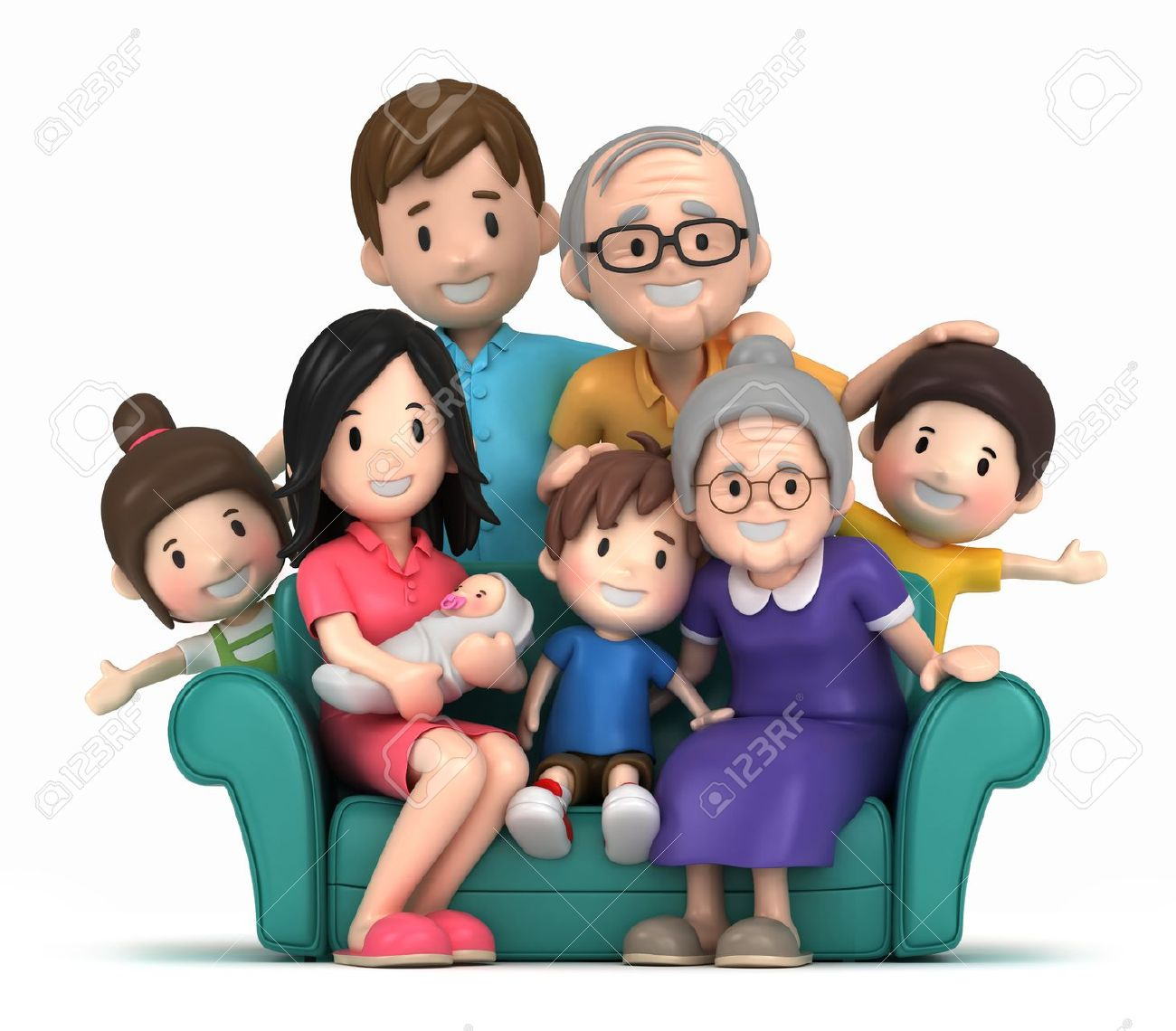 Family bonding clipart.